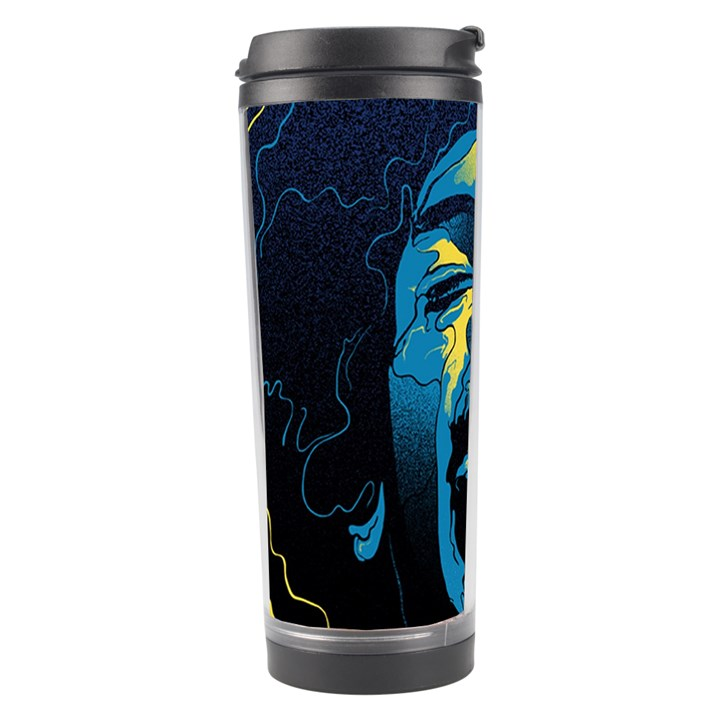 Gabz Jimi Hendrix Voodoo Child Poster Release From Dark Hall Mansion Travel Tumbler
