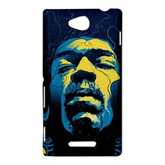 Gabz Jimi Hendrix Voodoo Child Poster Release From Dark Hall Mansion Sony Xperia C (S39H)