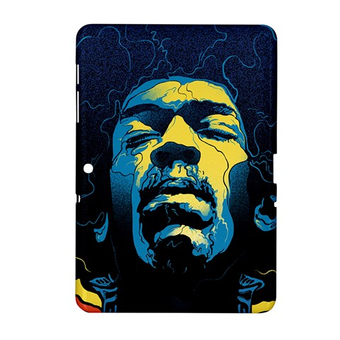 Gabz Jimi Hendrix Voodoo Child Poster Release From Dark Hall Mansion Samsung Galaxy Tab 2 (10.1 ) P5100 Hardshell Case