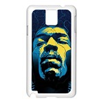 Gabz Jimi Hendrix Voodoo Child Poster Release From Dark Hall Mansion Samsung Galaxy Note 3 N9005 Case (White) Front