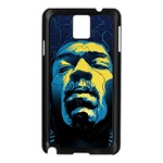 Gabz Jimi Hendrix Voodoo Child Poster Release From Dark Hall Mansion Samsung Galaxy Note 3 N9005 Case (Black) Front