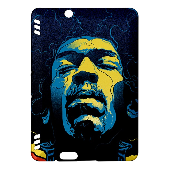 Gabz Jimi Hendrix Voodoo Child Poster Release From Dark Hall Mansion Kindle Fire HDX Hardshell Case