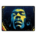 Gabz Jimi Hendrix Voodoo Child Poster Release From Dark Hall Mansion Double Sided Fleece Blanket (Small)  50 x40 Blanket Back