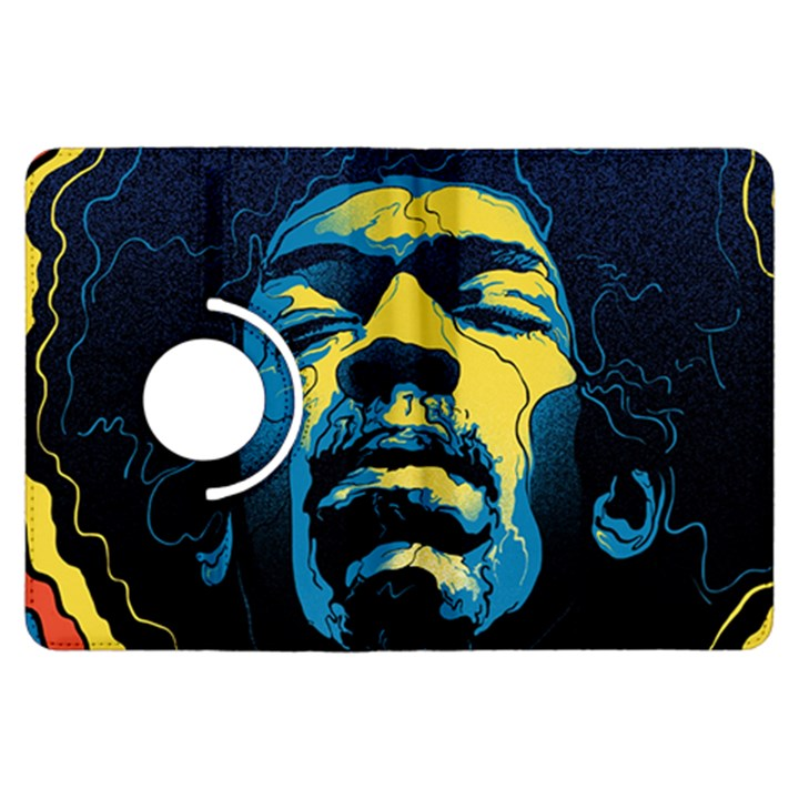 Gabz Jimi Hendrix Voodoo Child Poster Release From Dark Hall Mansion Kindle Fire HDX Flip 360 Case