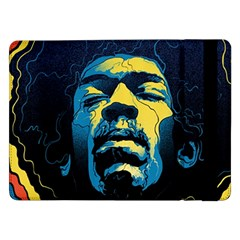 Gabz Jimi Hendrix Voodoo Child Poster Release From Dark Hall Mansion Samsung Galaxy Tab Pro 12 2  Flip Case