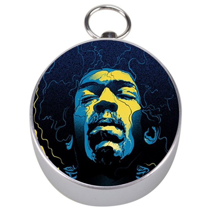 Gabz Jimi Hendrix Voodoo Child Poster Release From Dark Hall Mansion Silver Compasses