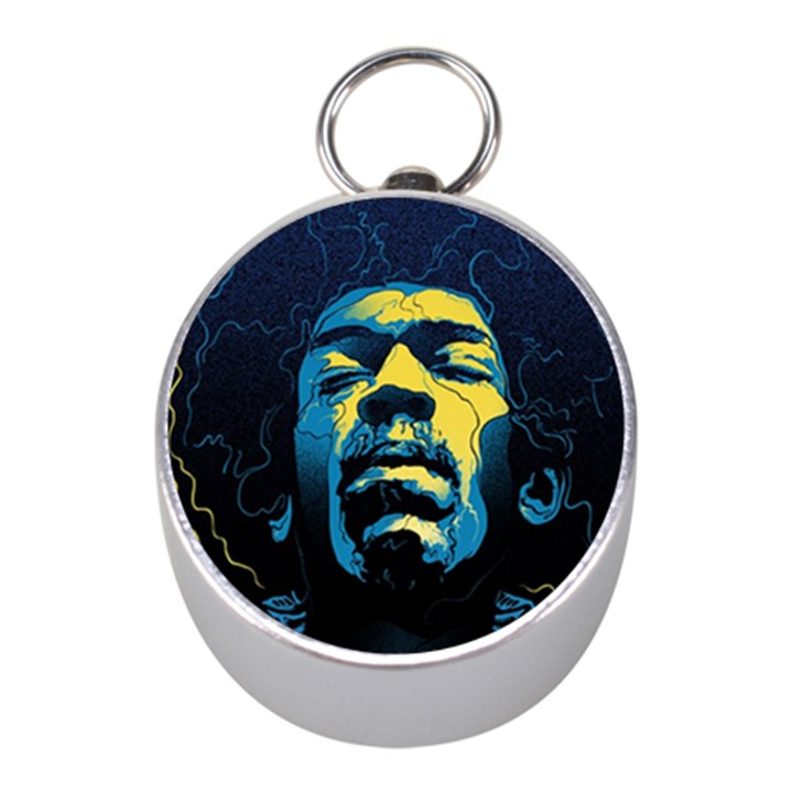 Gabz Jimi Hendrix Voodoo Child Poster Release From Dark Hall Mansion Mini Silver Compasses