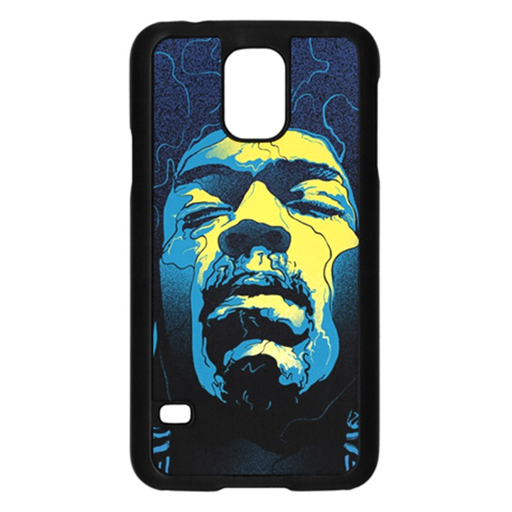 Gabz Jimi Hendrix Voodoo Child Poster Release From Dark Hall Mansion Samsung Galaxy S5 Case (Black)