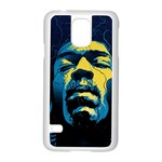 Gabz Jimi Hendrix Voodoo Child Poster Release From Dark Hall Mansion Samsung Galaxy S5 Case (White) Front