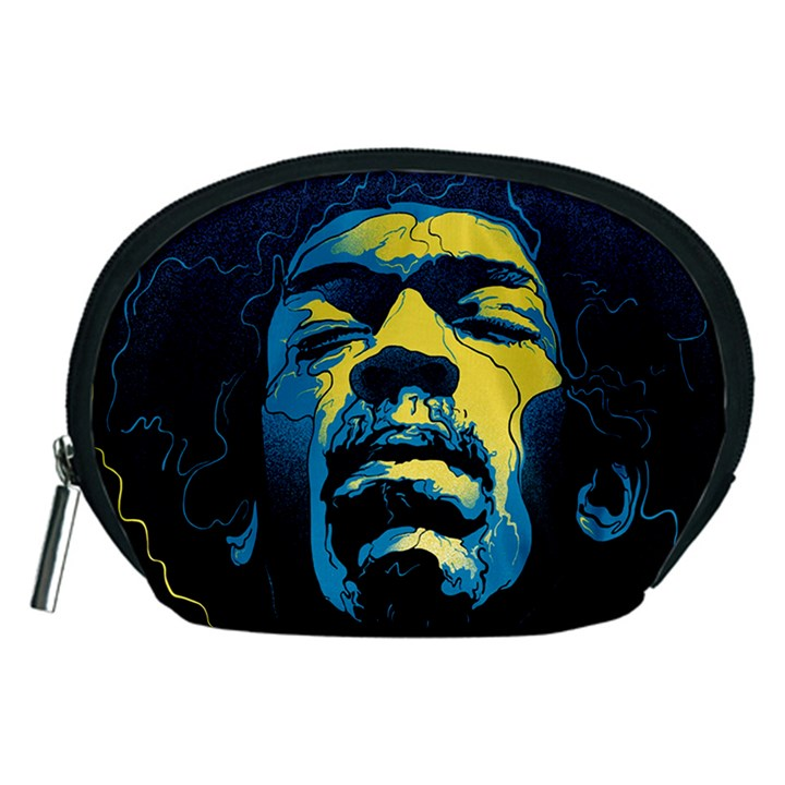Gabz Jimi Hendrix Voodoo Child Poster Release From Dark Hall Mansion Accessory Pouches (Medium)