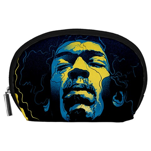 Gabz Jimi Hendrix Voodoo Child Poster Release From Dark Hall Mansion Accessory Pouches (Large)