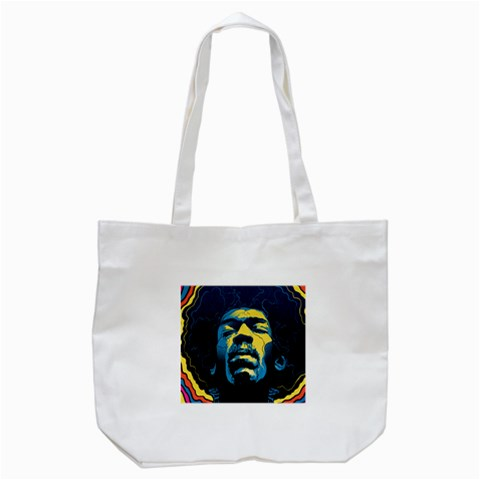 Gabz Jimi Hendrix Voodoo Child Poster Release From Dark Hall Mansion Tote Bag (White)