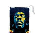 Gabz Jimi Hendrix Voodoo Child Poster Release From Dark Hall Mansion Drawstring Pouches (Medium)  Front