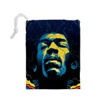 Gabz Jimi Hendrix Voodoo Child Poster Release From Dark Hall Mansion Drawstring Pouches (Medium)  Back
