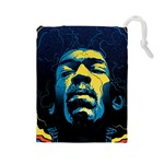 Gabz Jimi Hendrix Voodoo Child Poster Release From Dark Hall Mansion Drawstring Pouches (Large)  Front