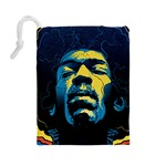 Gabz Jimi Hendrix Voodoo Child Poster Release From Dark Hall Mansion Drawstring Pouches (Large)  Back