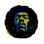 Gabz Jimi Hendrix Voodoo Child Poster Release From Dark Hall Mansion Standard 15  Premium Flano Round Cushions Front