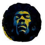 Gabz Jimi Hendrix Voodoo Child Poster Release From Dark Hall Mansion Large 18  Premium Flano Round Cushions Back