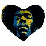 Gabz Jimi Hendrix Voodoo Child Poster Release From Dark Hall Mansion Large 19  Premium Flano Heart Shape Cushions Front