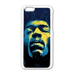 Gabz Jimi Hendrix Voodoo Child Poster Release From Dark Hall Mansion Apple iPhone 6/6S White Enamel Case Front