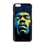 Gabz Jimi Hendrix Voodoo Child Poster Release From Dark Hall Mansion Apple iPhone 6/6S Black Enamel Case Front