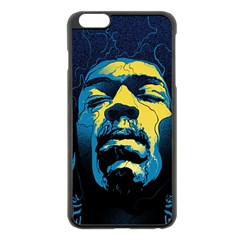 Gabz Jimi Hendrix Voodoo Child Poster Release From Dark Hall Mansion Apple Iphone 6 Plus/6s Plus Black Enamel Case