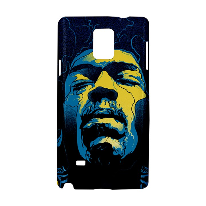 Gabz Jimi Hendrix Voodoo Child Poster Release From Dark Hall Mansion Samsung Galaxy Note 4 Hardshell Case
