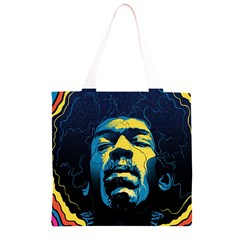 Gabz Jimi Hendrix Voodoo Child Poster Release From Dark Hall Mansion Grocery Light Tote Bag