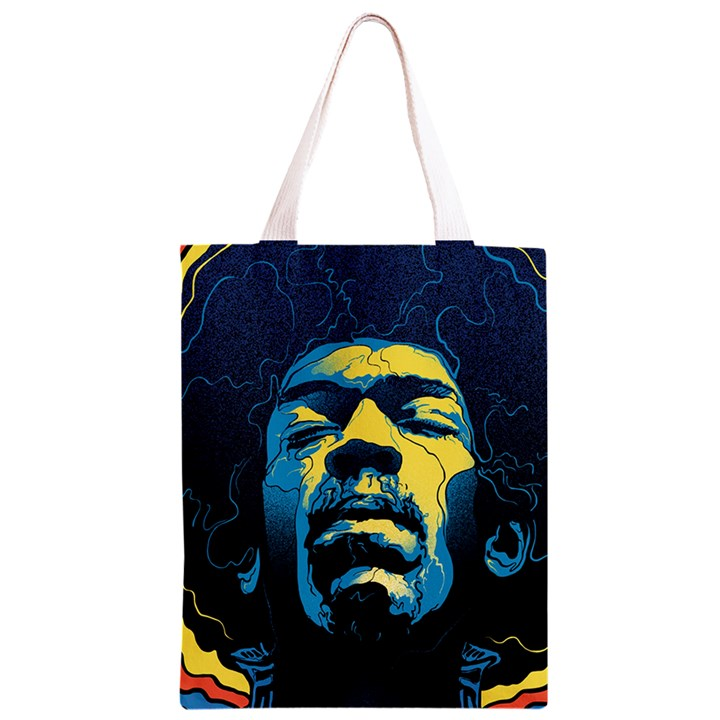 Gabz Jimi Hendrix Voodoo Child Poster Release From Dark Hall Mansion Classic Light Tote Bag