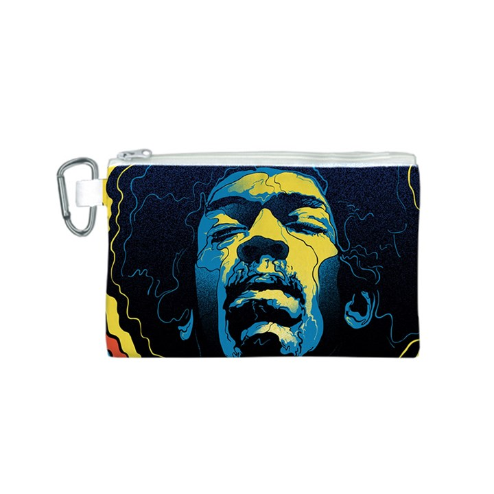 Gabz Jimi Hendrix Voodoo Child Poster Release From Dark Hall Mansion Canvas Cosmetic Bag (S)