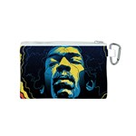 Gabz Jimi Hendrix Voodoo Child Poster Release From Dark Hall Mansion Canvas Cosmetic Bag (S) Back