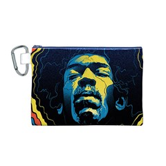 Gabz Jimi Hendrix Voodoo Child Poster Release From Dark Hall Mansion Canvas Cosmetic Bag (m)