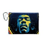 Gabz Jimi Hendrix Voodoo Child Poster Release From Dark Hall Mansion Canvas Cosmetic Bag (M) Front