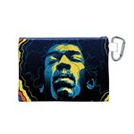 Gabz Jimi Hendrix Voodoo Child Poster Release From Dark Hall Mansion Canvas Cosmetic Bag (M) Back