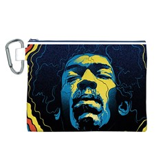 Gabz Jimi Hendrix Voodoo Child Poster Release From Dark Hall Mansion Canvas Cosmetic Bag (L)
