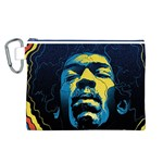 Gabz Jimi Hendrix Voodoo Child Poster Release From Dark Hall Mansion Canvas Cosmetic Bag (L) Front