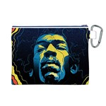 Gabz Jimi Hendrix Voodoo Child Poster Release From Dark Hall Mansion Canvas Cosmetic Bag (L) Back