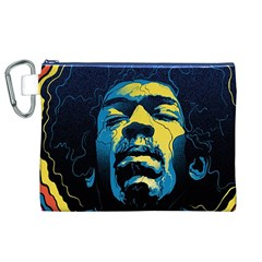 Gabz Jimi Hendrix Voodoo Child Poster Release From Dark Hall Mansion Canvas Cosmetic Bag (xl)