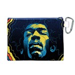 Gabz Jimi Hendrix Voodoo Child Poster Release From Dark Hall Mansion Canvas Cosmetic Bag (XL) Back