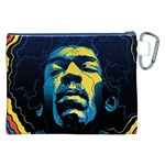 Gabz Jimi Hendrix Voodoo Child Poster Release From Dark Hall Mansion Canvas Cosmetic Bag (XXL) Back