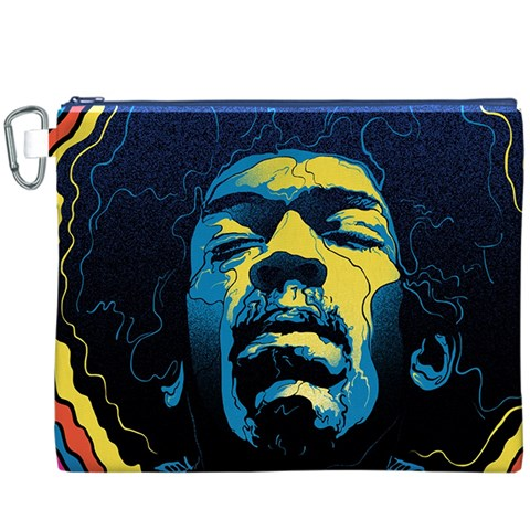 Gabz Jimi Hendrix Voodoo Child Poster Release From Dark Hall Mansion Canvas Cosmetic Bag (XXXL)