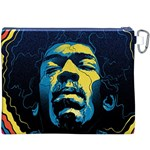 Gabz Jimi Hendrix Voodoo Child Poster Release From Dark Hall Mansion Canvas Cosmetic Bag (XXXL) Back