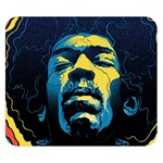 Gabz Jimi Hendrix Voodoo Child Poster Release From Dark Hall Mansion Double Sided Flano Blanket (Small)  50 x40 Blanket Back