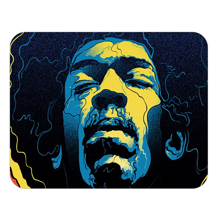 Gabz Jimi Hendrix Voodoo Child Poster Release From Dark Hall Mansion Double Sided Flano Blanket (Large)