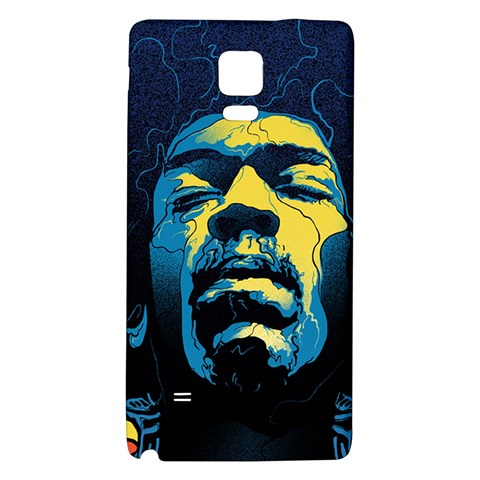 Gabz Jimi Hendrix Voodoo Child Poster Release From Dark Hall Mansion Galaxy Note 4 Back Case