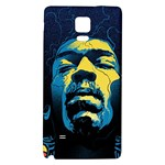 Gabz Jimi Hendrix Voodoo Child Poster Release From Dark Hall Mansion Galaxy Note 4 Back Case Front