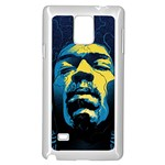 Gabz Jimi Hendrix Voodoo Child Poster Release From Dark Hall Mansion Samsung Galaxy Note 4 Case (White) Front