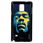 Gabz Jimi Hendrix Voodoo Child Poster Release From Dark Hall Mansion Samsung Galaxy Note 4 Case (Black) Front