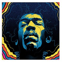 Gabz Jimi Hendrix Voodoo Child Poster Release From Dark Hall Mansion Large Satin Scarf (Square)