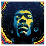 Gabz Jimi Hendrix Voodoo Child Poster Release From Dark Hall Mansion Large Satin Scarf (Square) Front